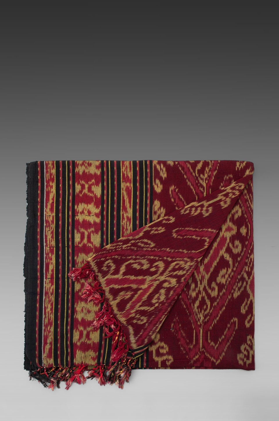 Indah Sumatra Hand Woven Beach Blanket in Red