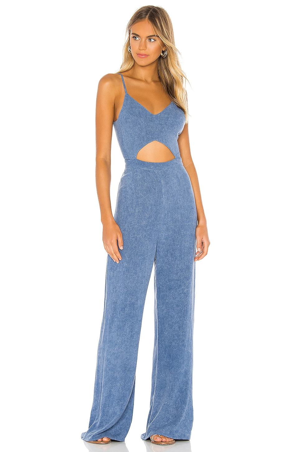 Indah Piper Jumpsuit in Chambray Stonewash
