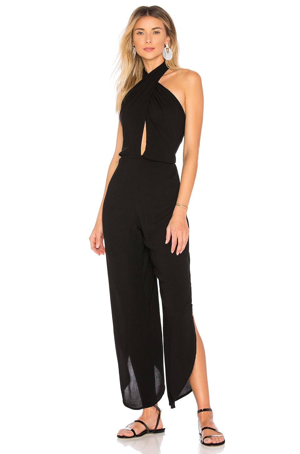 Indah Pearl Jumpsuit in Black