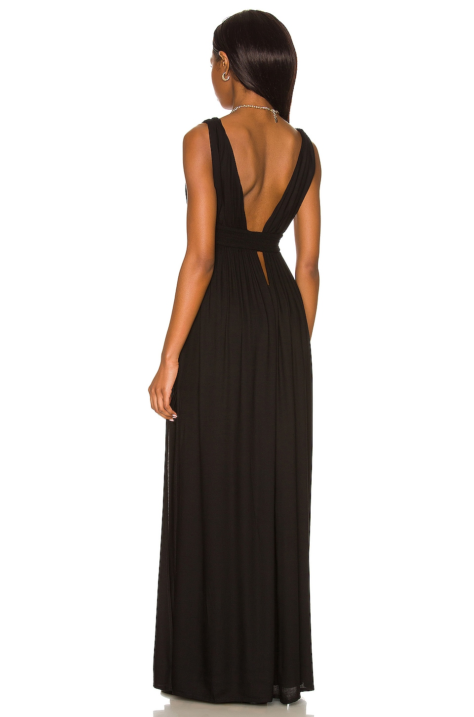 Indah Anjeli Empire Maxi Dress in Black