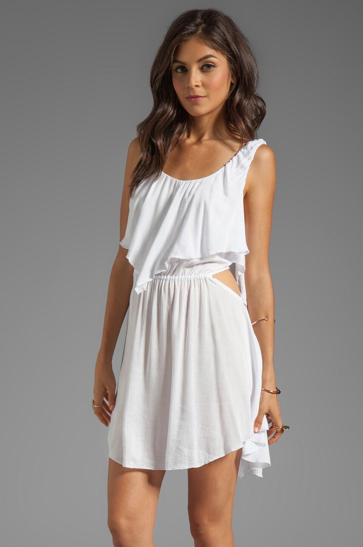 Indah Sky Flounce Cut Out Mini Dress in White