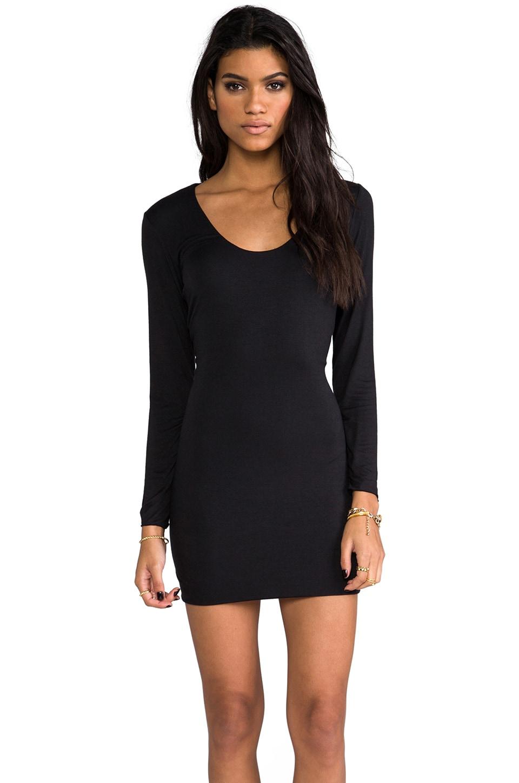 Indah Beale Long Sleeve Mini Dress in Black