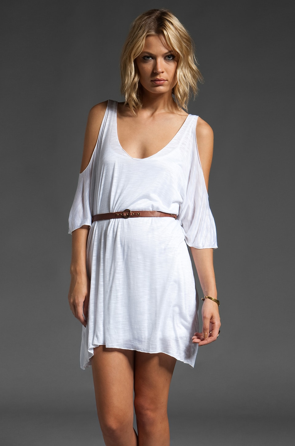 Indah Yang Cold Shoulder Tunic in White