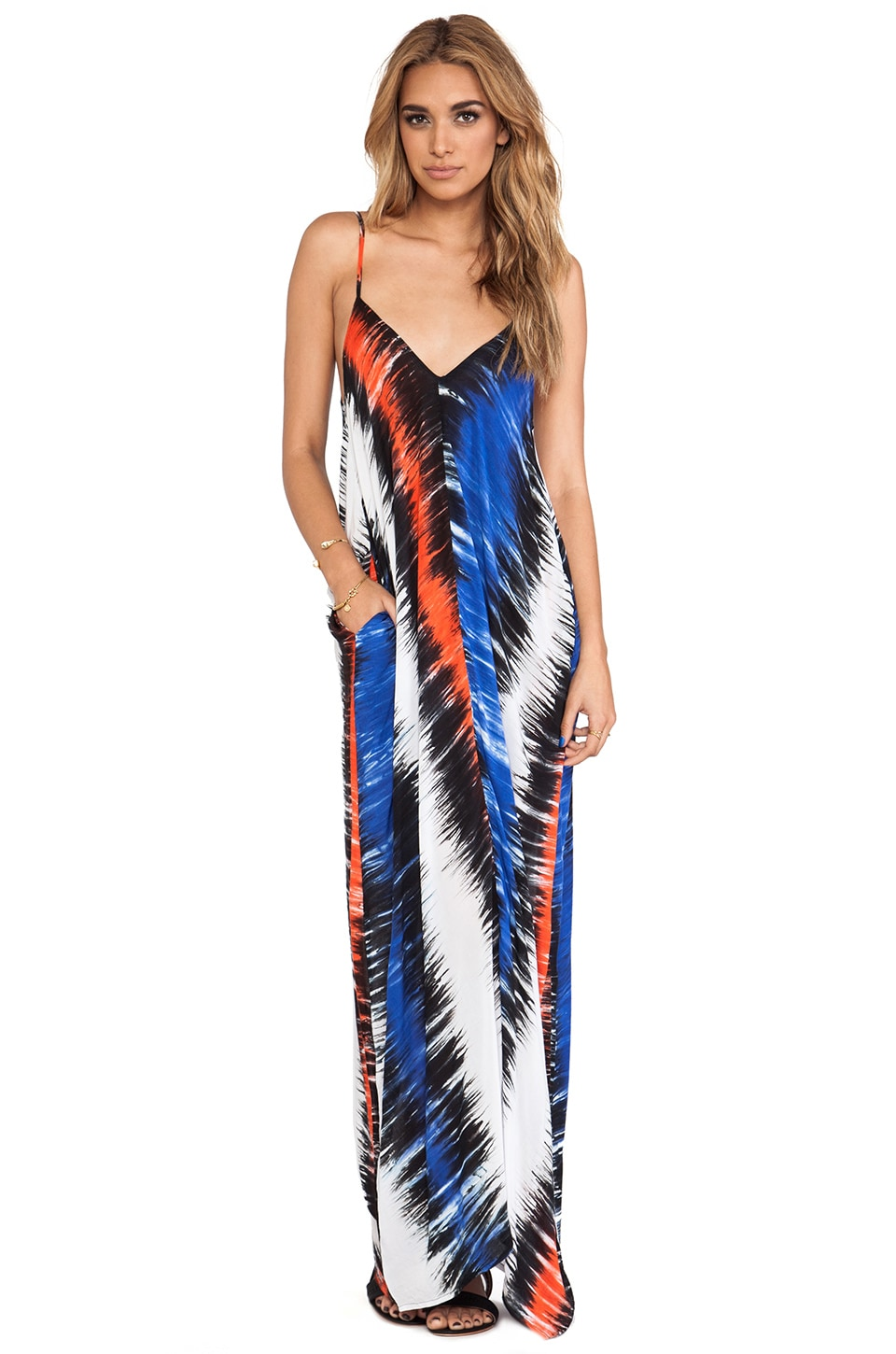 Indah Nala Maxi Dress in Blue Salt