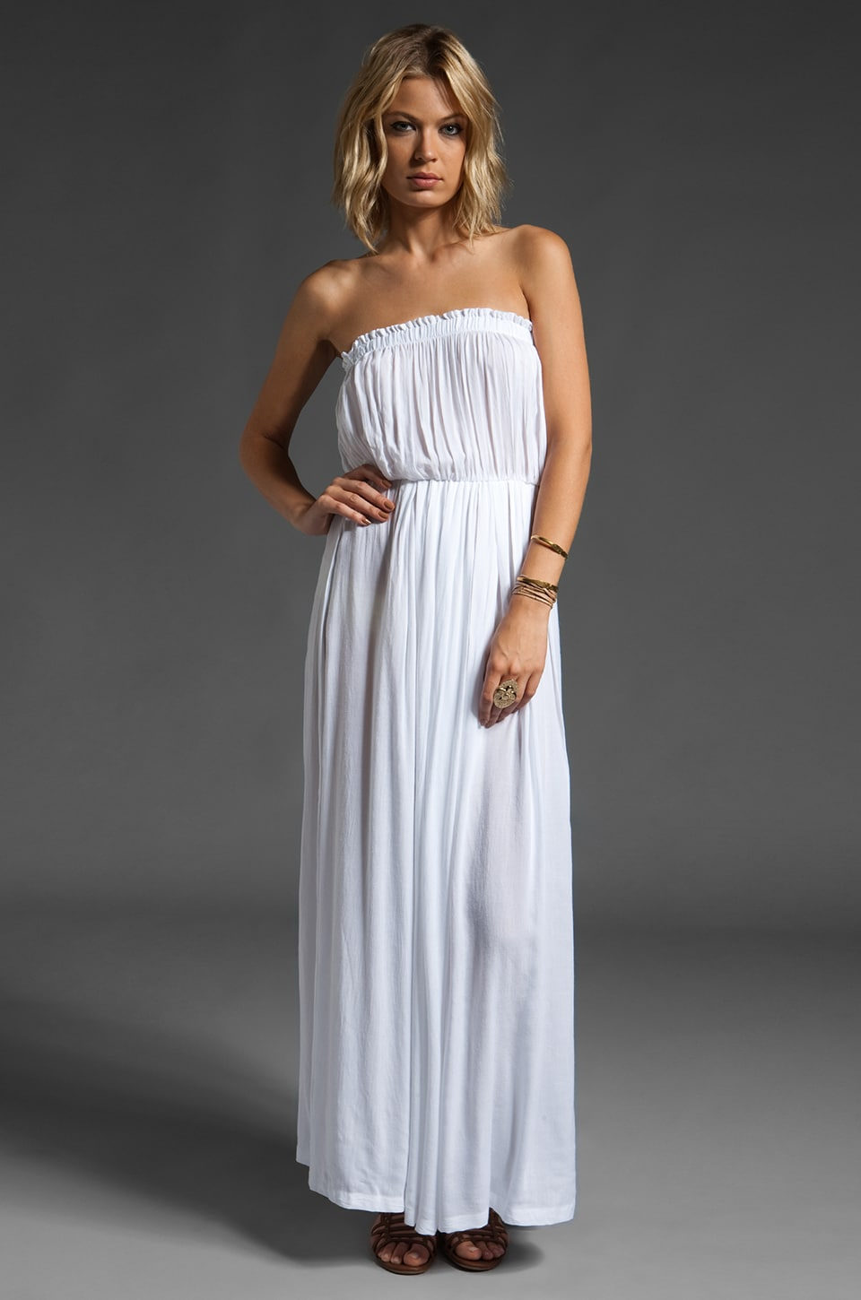 Cheap White Strapless Dresses