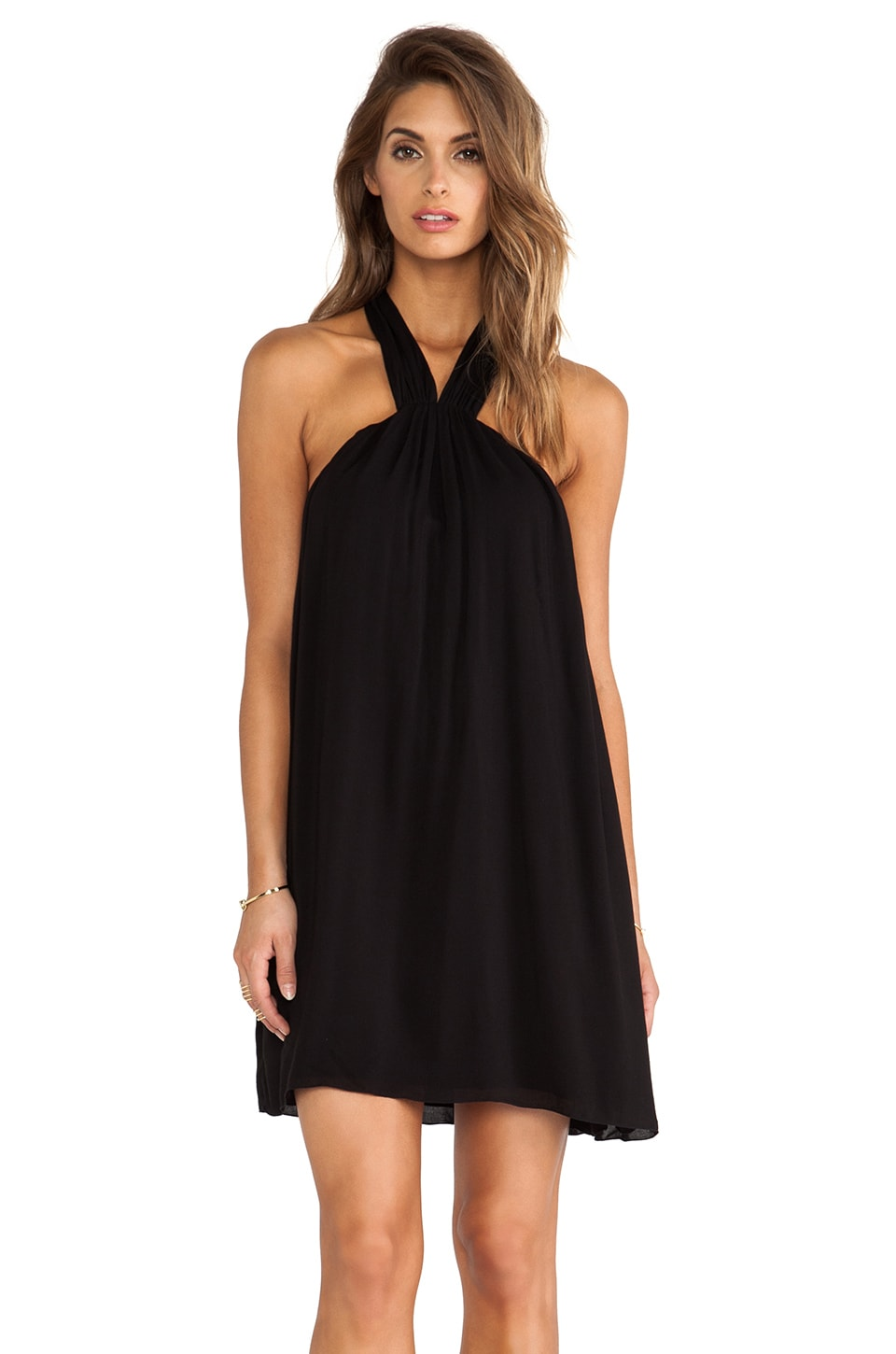 Indah Cosmo Mini Dress in Black