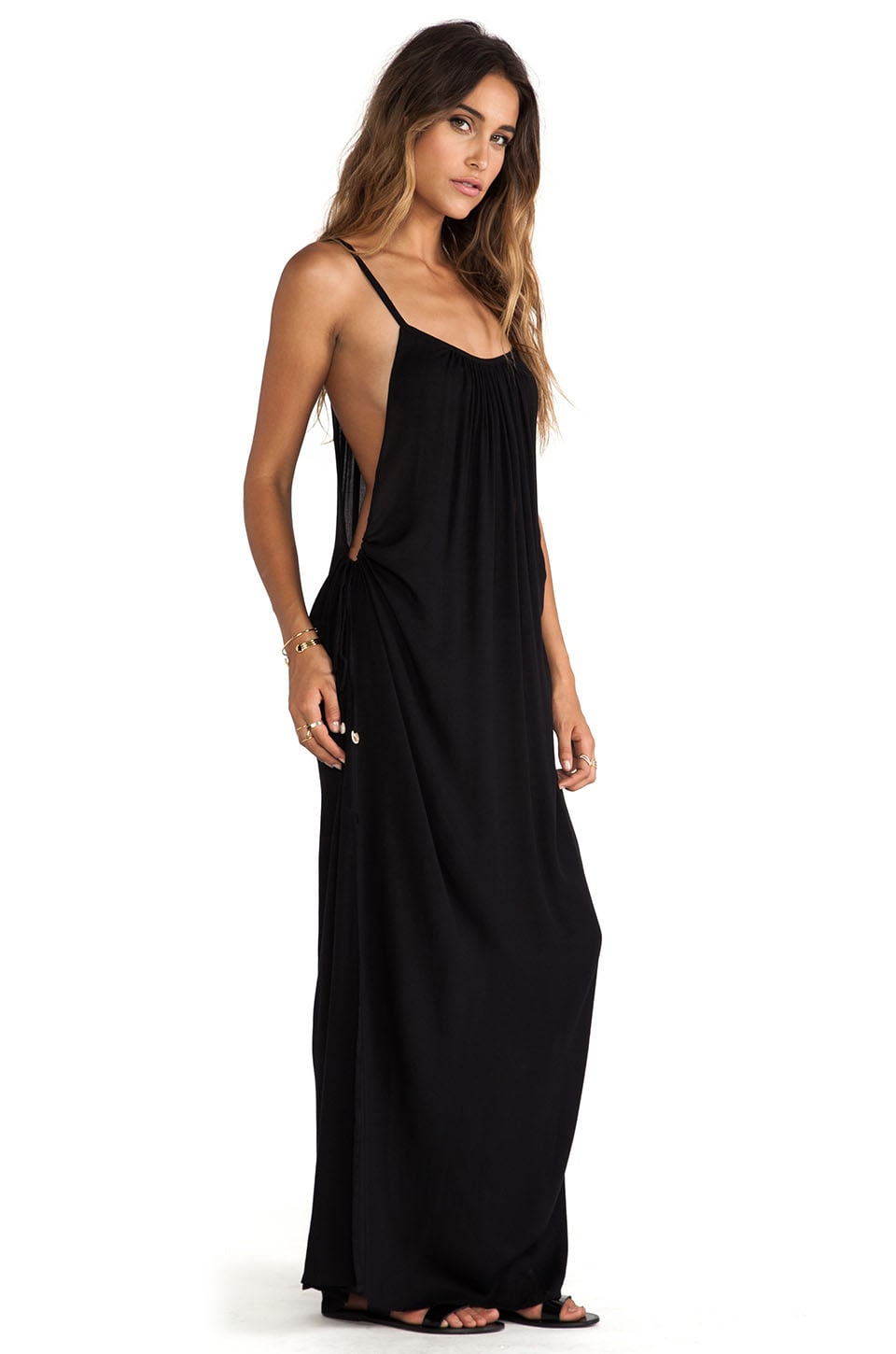 Indah Robin Maxi Dress in Black