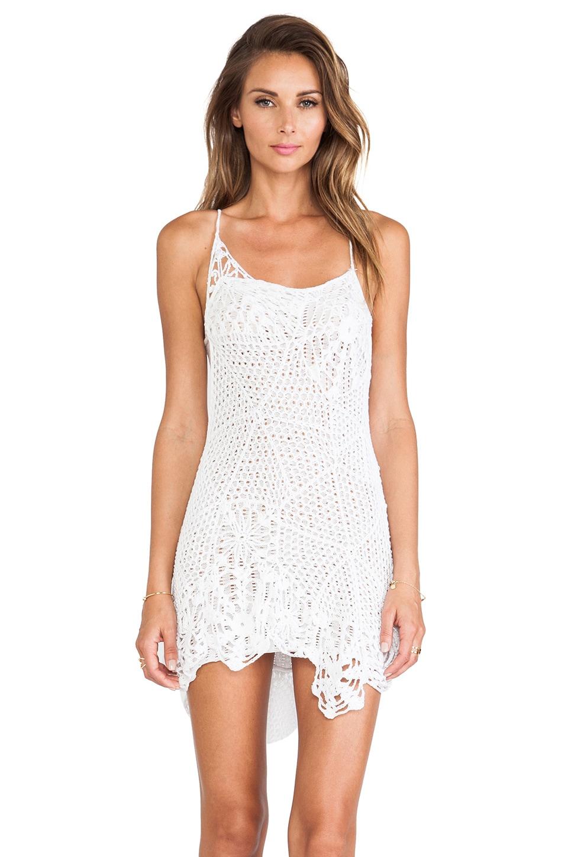 Indah Sloan Web Cocktail Dress in White