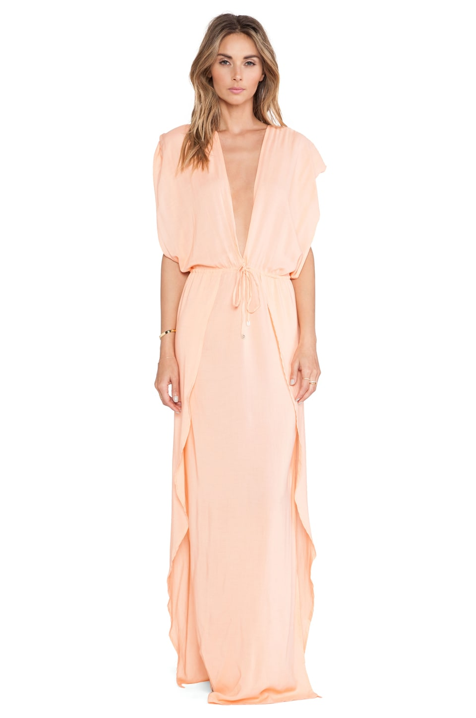 Indah Jade Maxi Dress in Peach