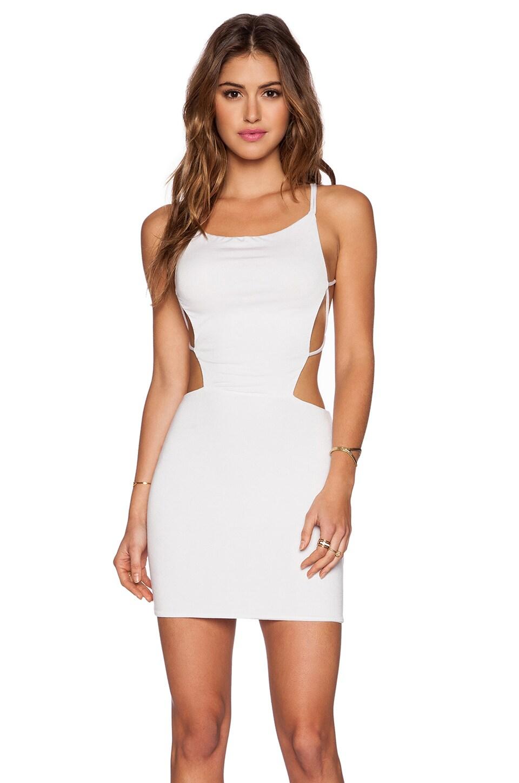 Indah Akina Seamless Mini Dress in White