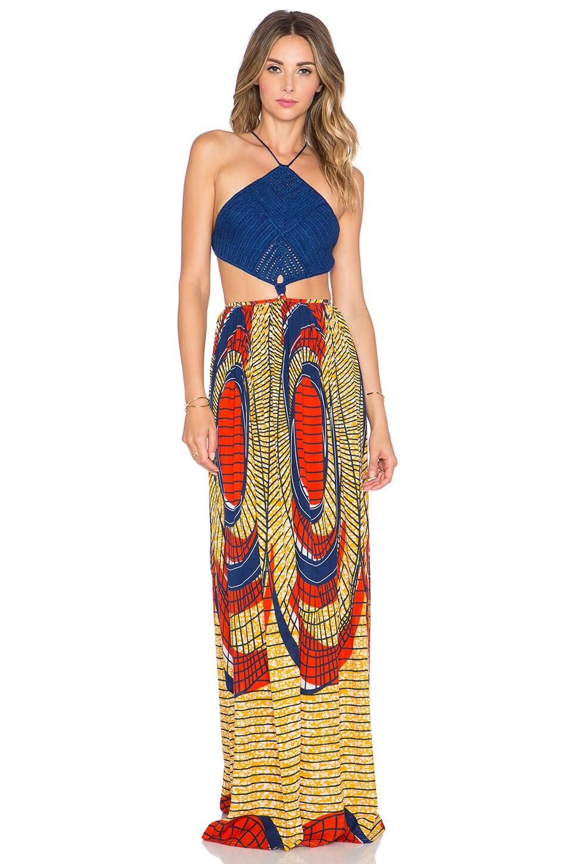 f5acf31322 Indah Revel Crochet Maxi Dress in Shield