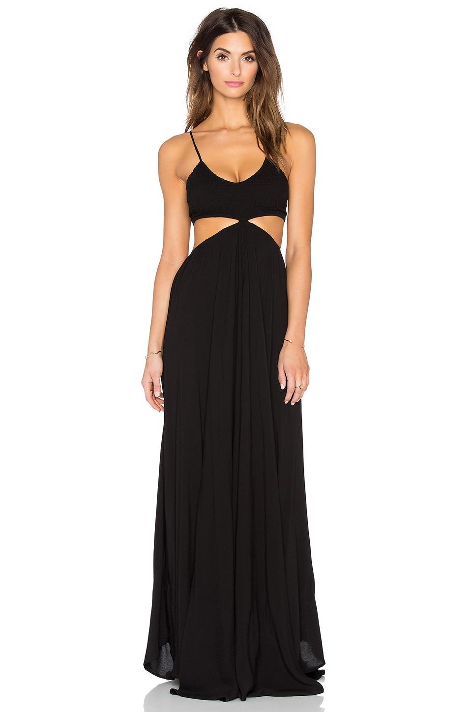 ac5b0d1686 Indah Innocence Maxi Dress in Black