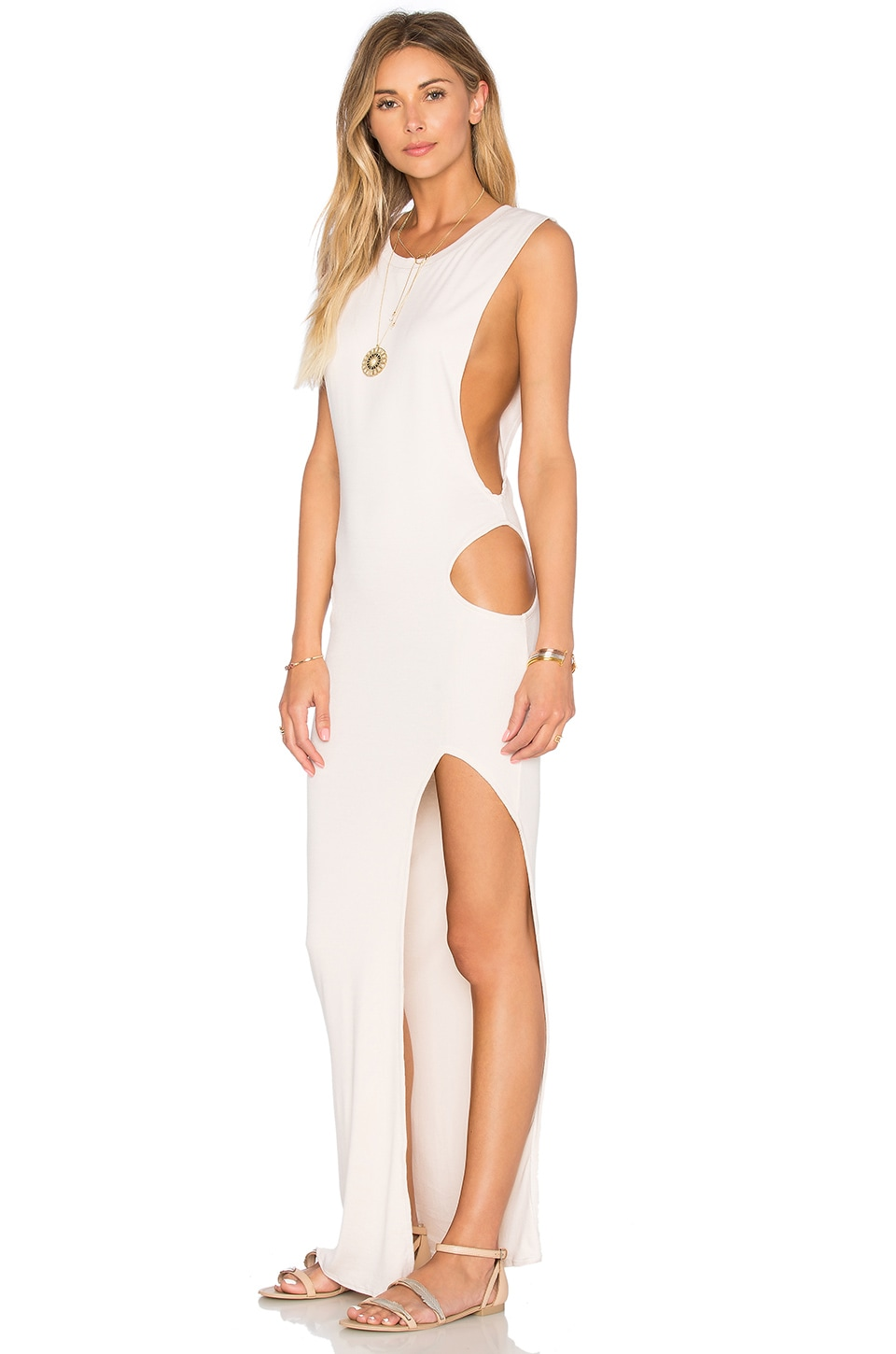 Indah Thea Cutout Maxi Dress in Sand | REVOLVE