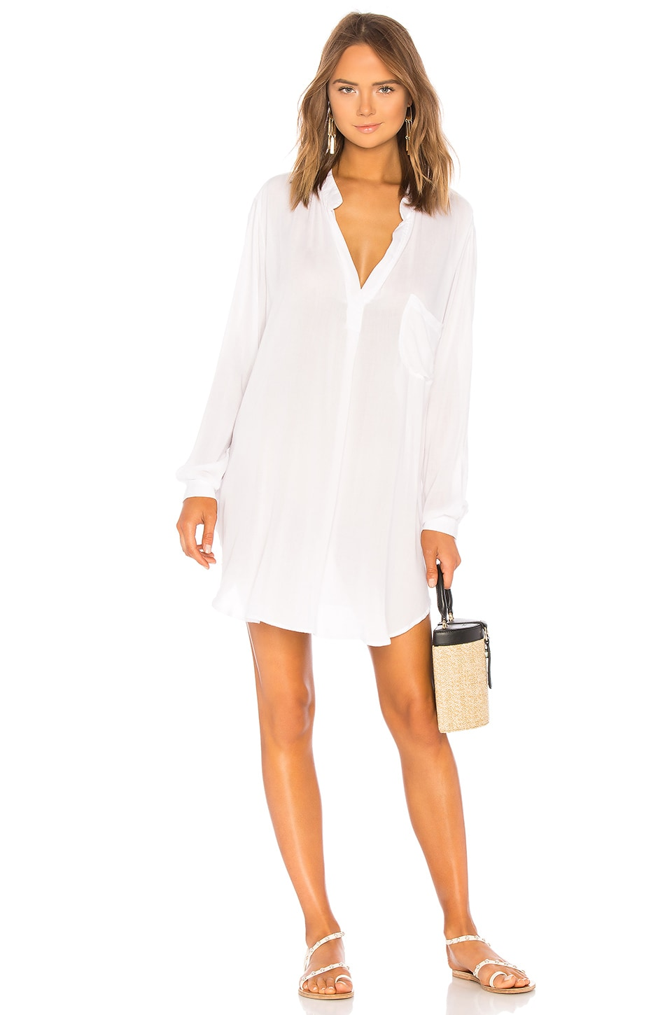 Indah Current Long Sleeve Tunic in White