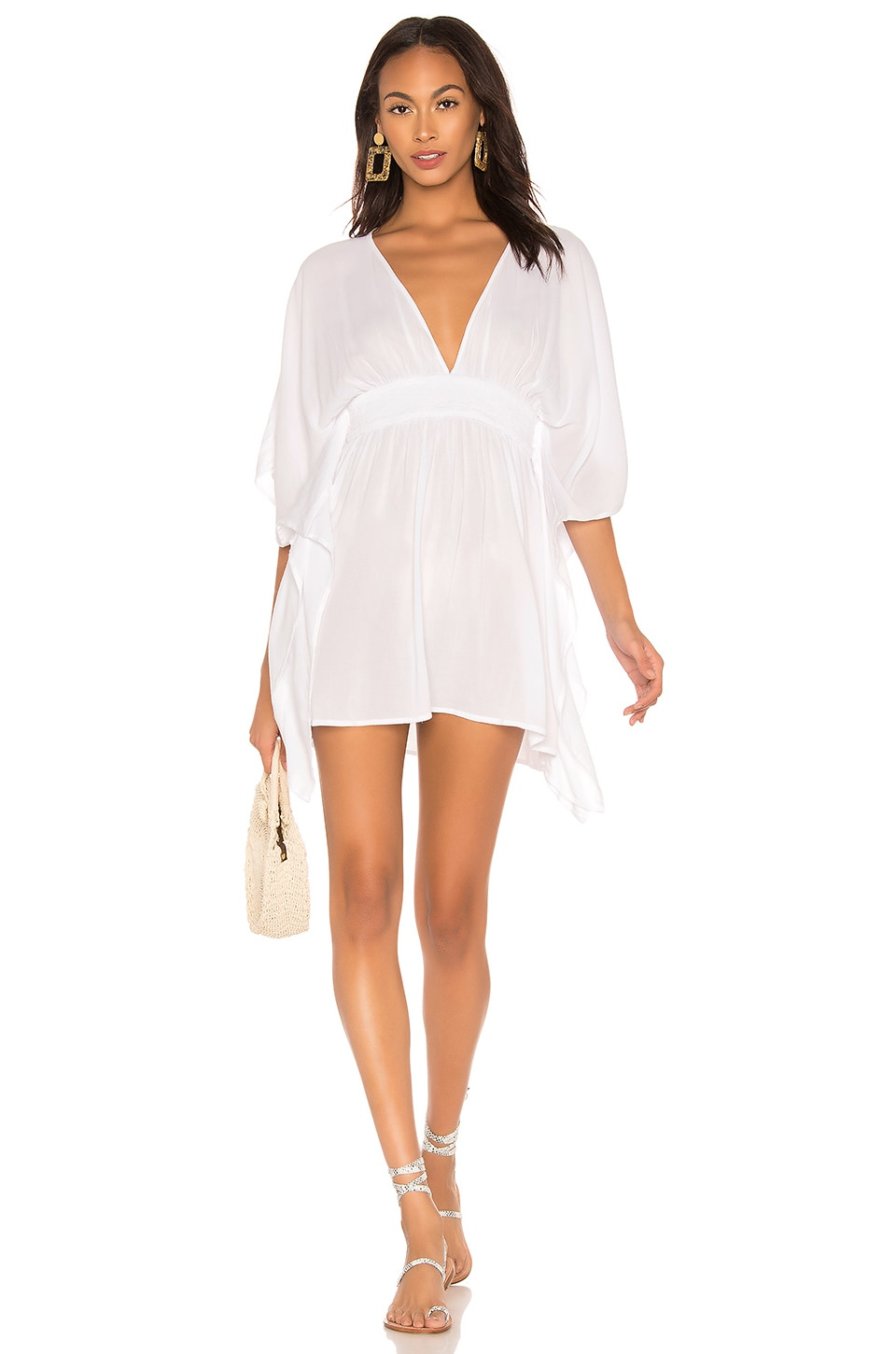 Indah Avalon Mini Dress in White
