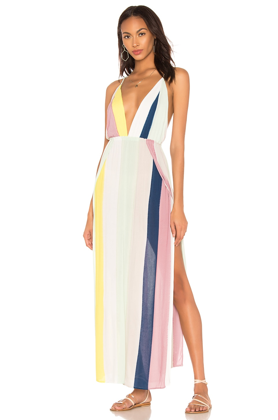 Indah River Maxi Dress in Tropical Stripe