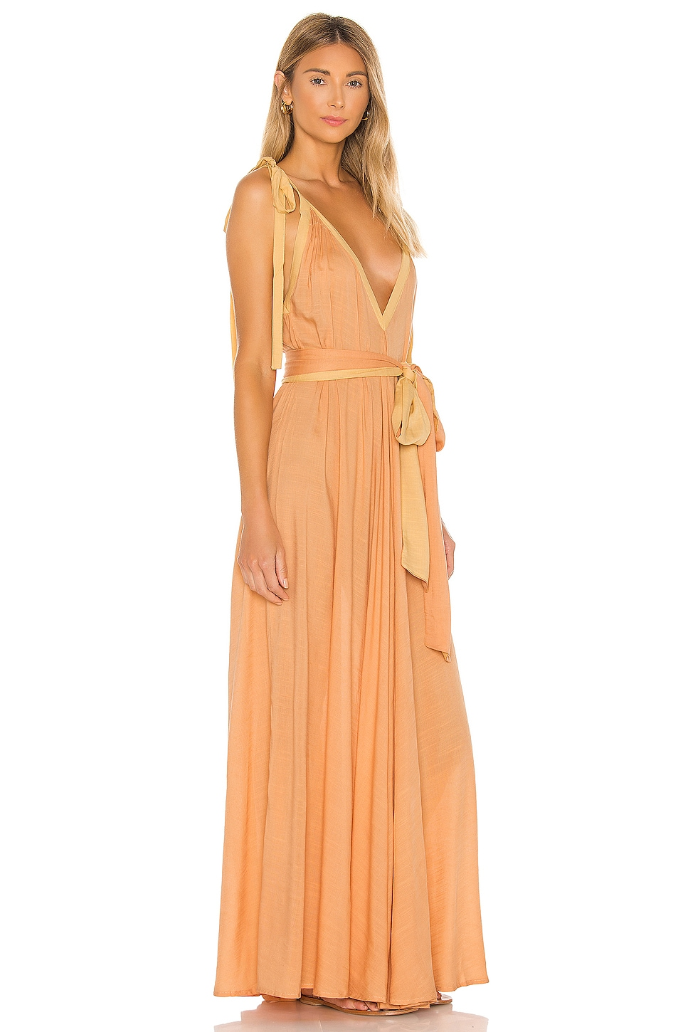 Vivian A-line Modern Goddess Maxi Dress, view 2, click to view large image.