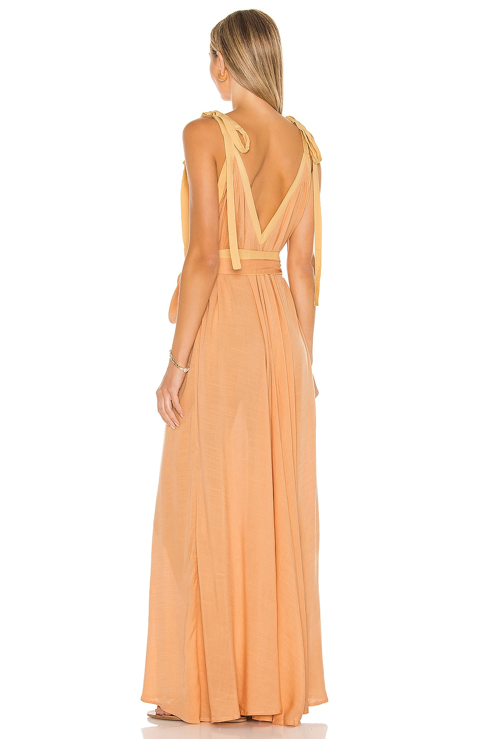 Vivian A-line Modern Goddess Maxi Dress, view 3, click to view large image.