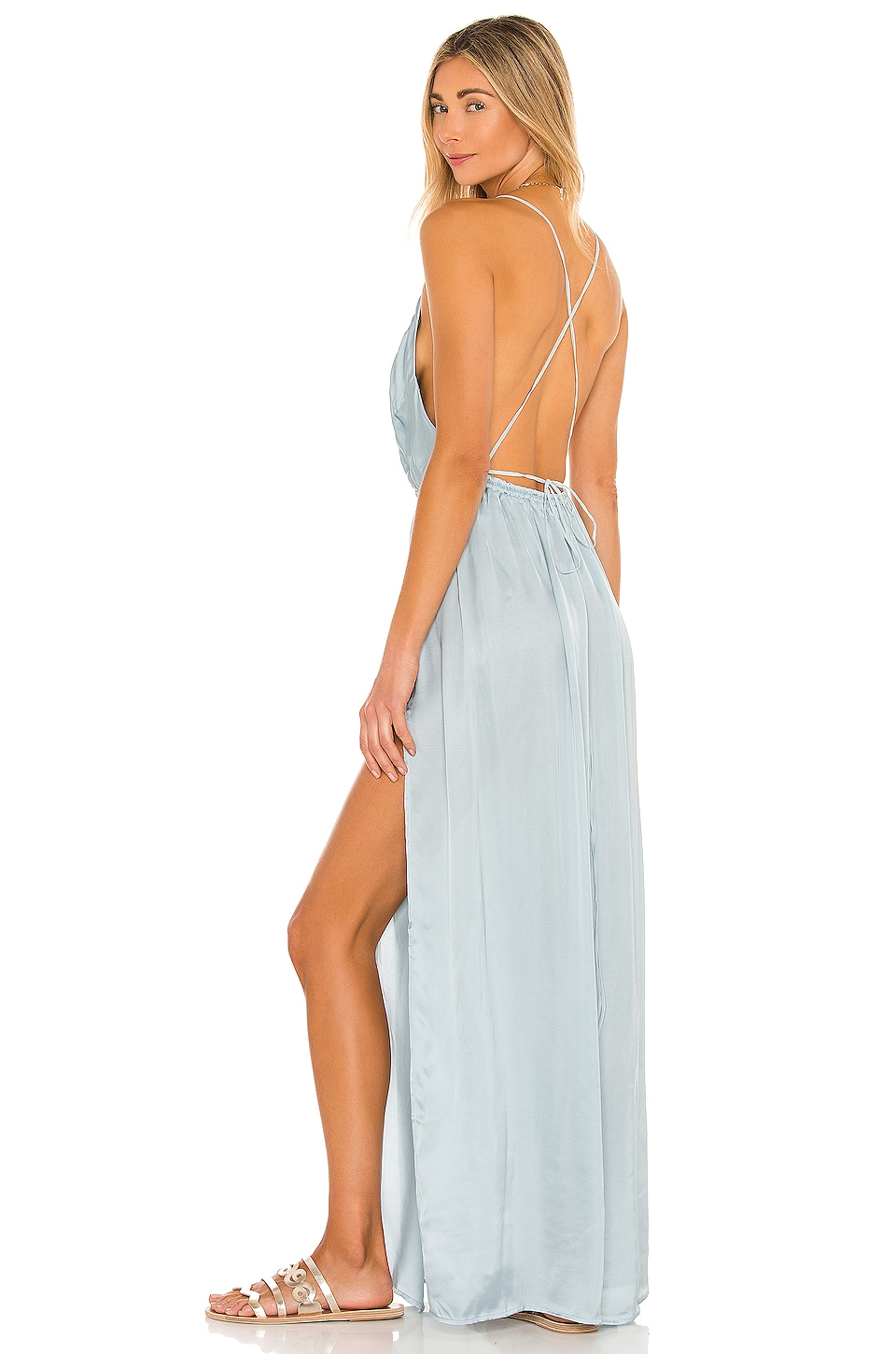 Indah River Maxi Dress in Clear
