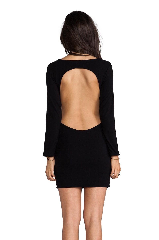 Indah Vida Open Back Day to Night Mini Dress in Black