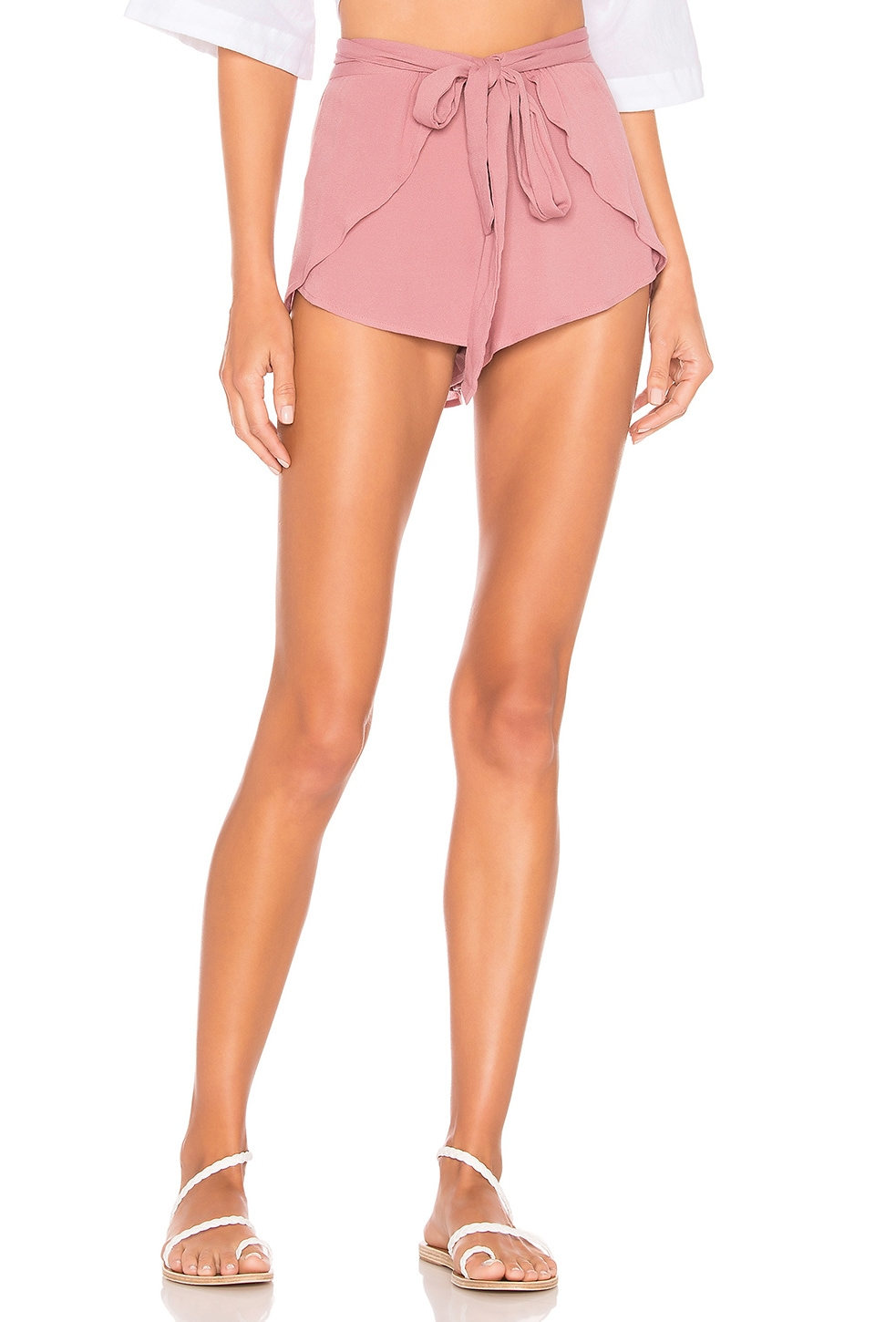 Indah Palm Wrap Short in Orchid