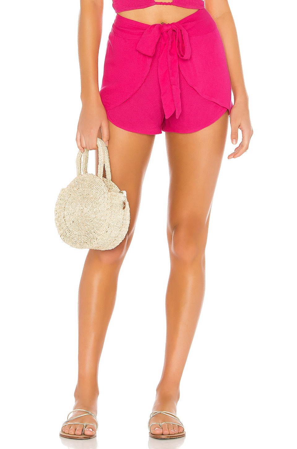 Indah X REVOLVE Palm Wrap Short in Pink Glo