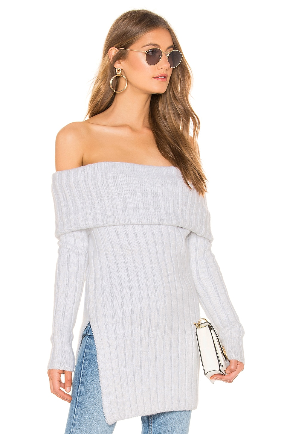INDAH Piccolo Cowl Neck Sweater in White