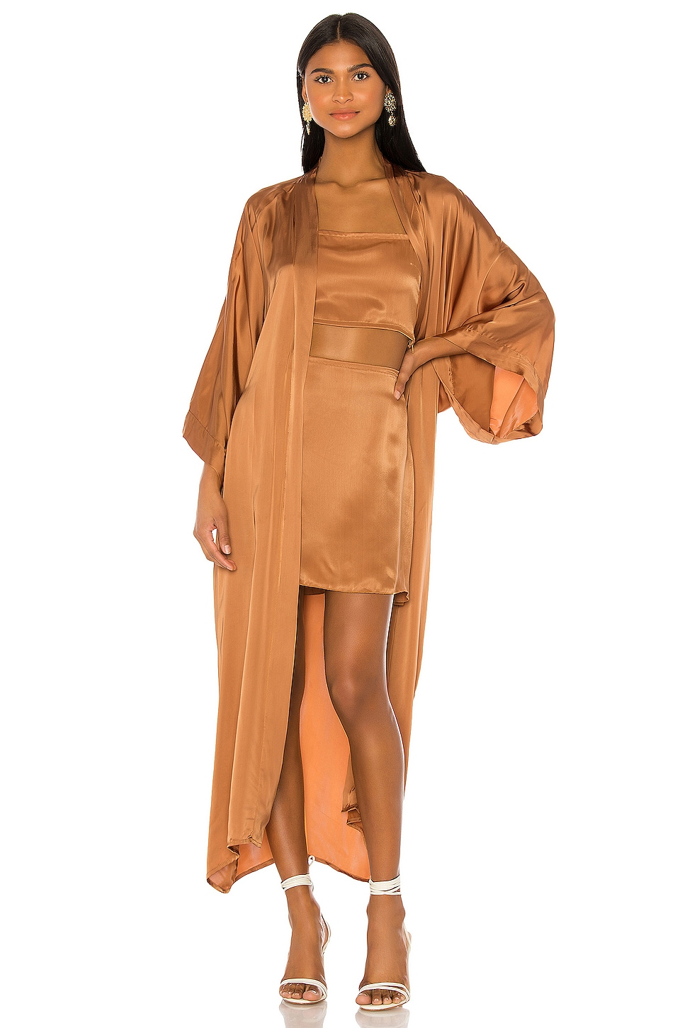 Indah Luna Robe with Sash in Honey
