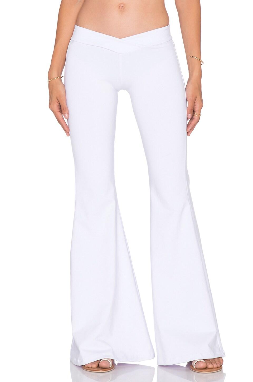 Indah Promise Bell Bottom Pant in White