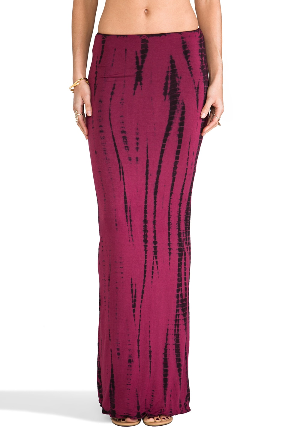 Indah Montana Maxi Tube Skirt in Streak Red
