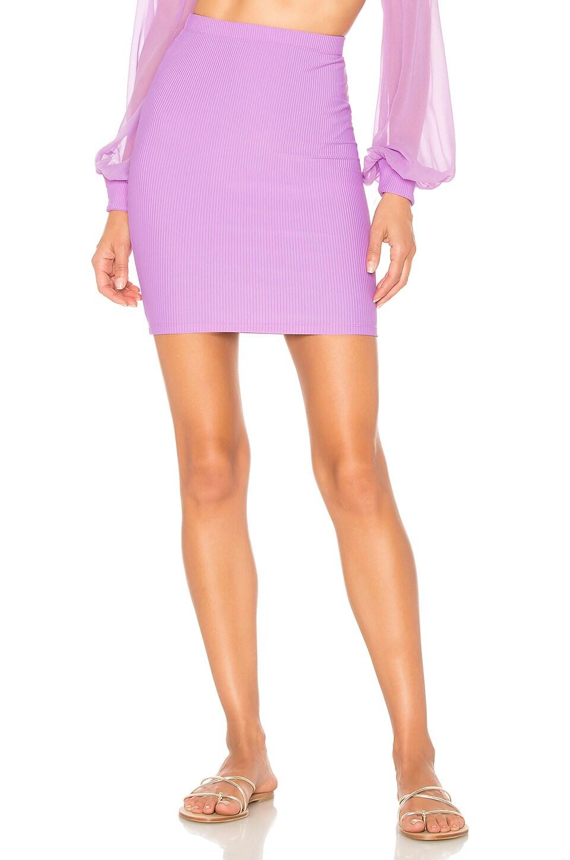 Indah Ramen Mini Skirt in Lilac