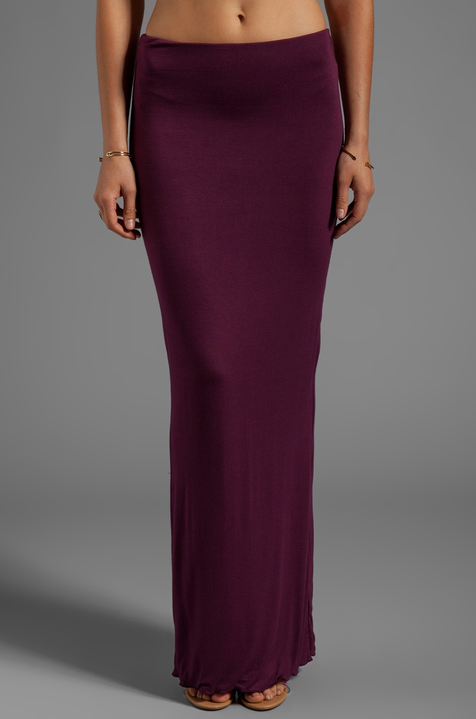 Indah Montana Maxi Tube Skirt in Plum