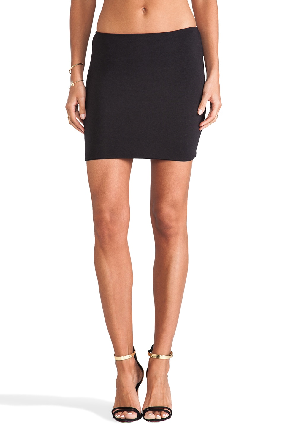 Indah Dalton Mini Skirt in Black