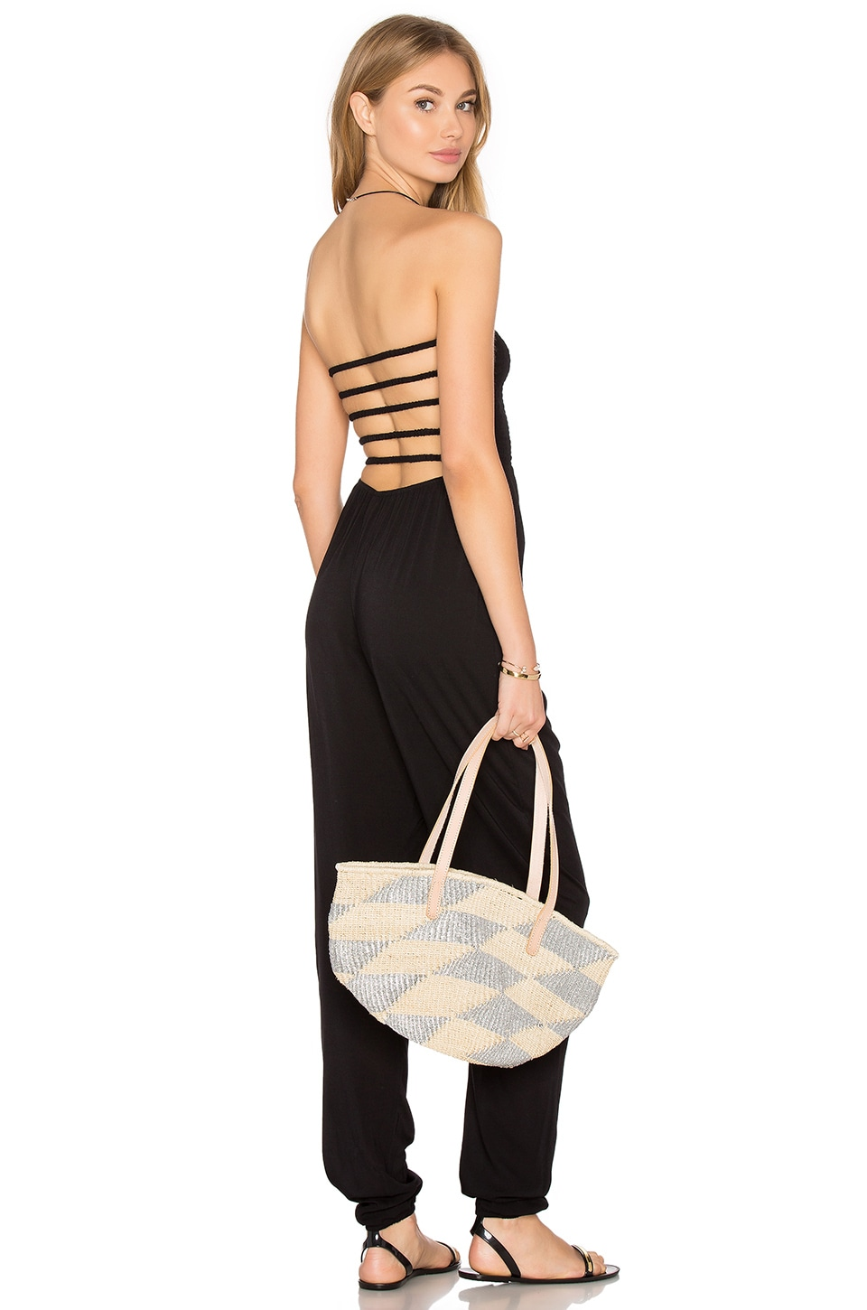 Indah Java Strapless Jumpsuit in Black
