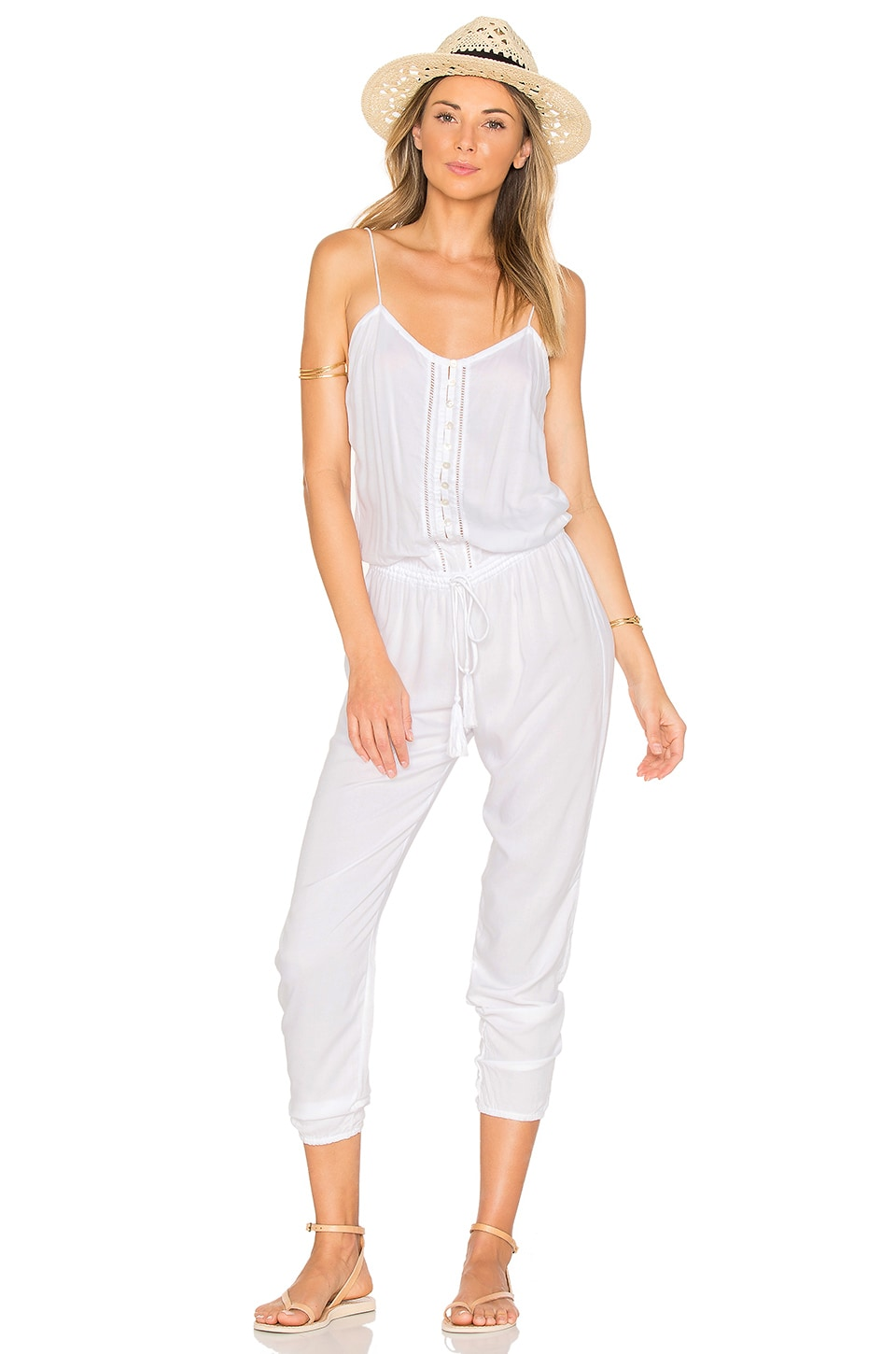 Indah Judd Jumpsuit in White