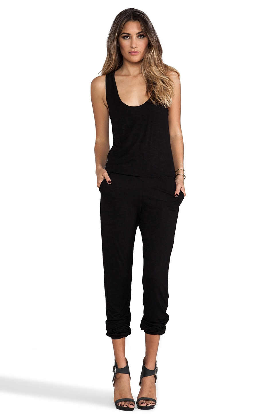 Indah Lagoon Jumpsuit in Black