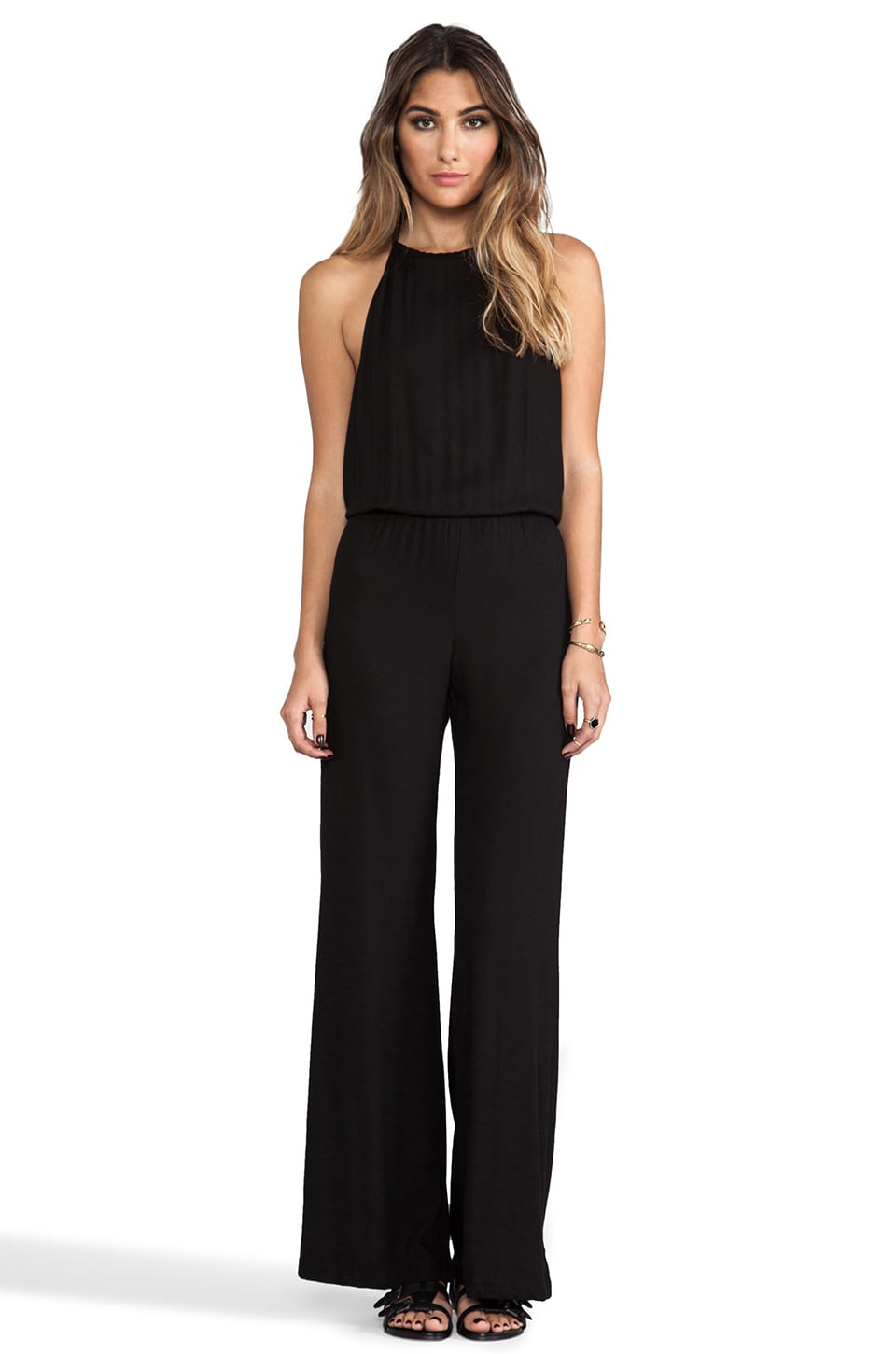 Indah Tang Open Back Jumpsuit in Black