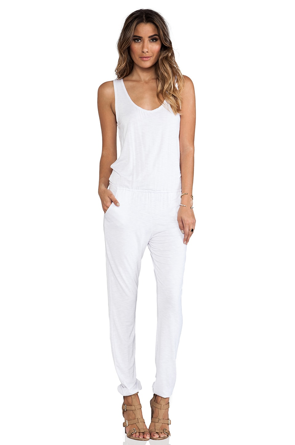 Indah Lagoon Tank Jumpsuit in White