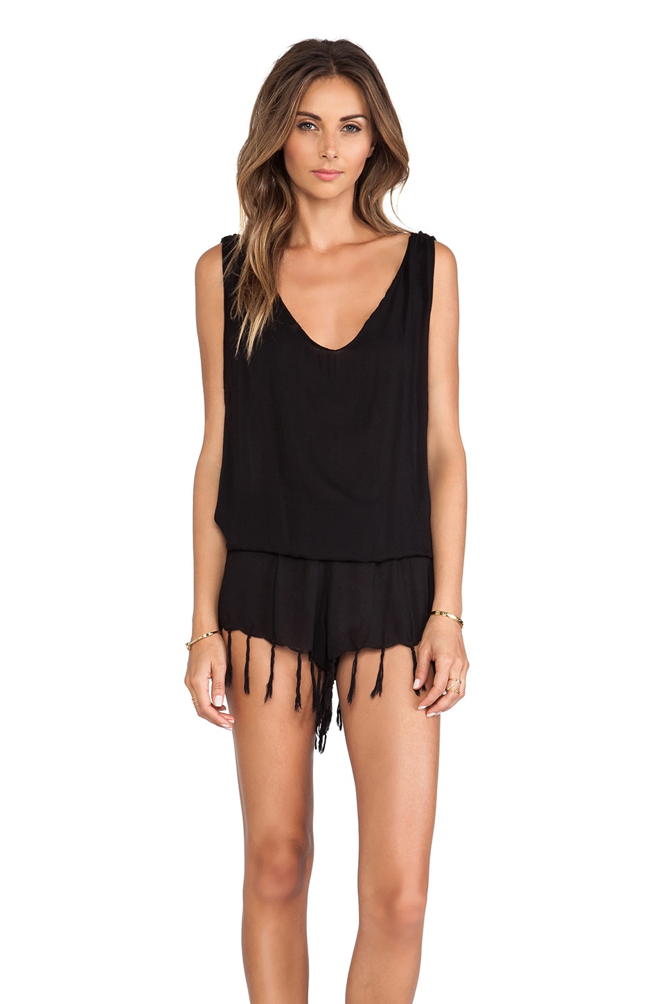 Indah Milos Romper in Black