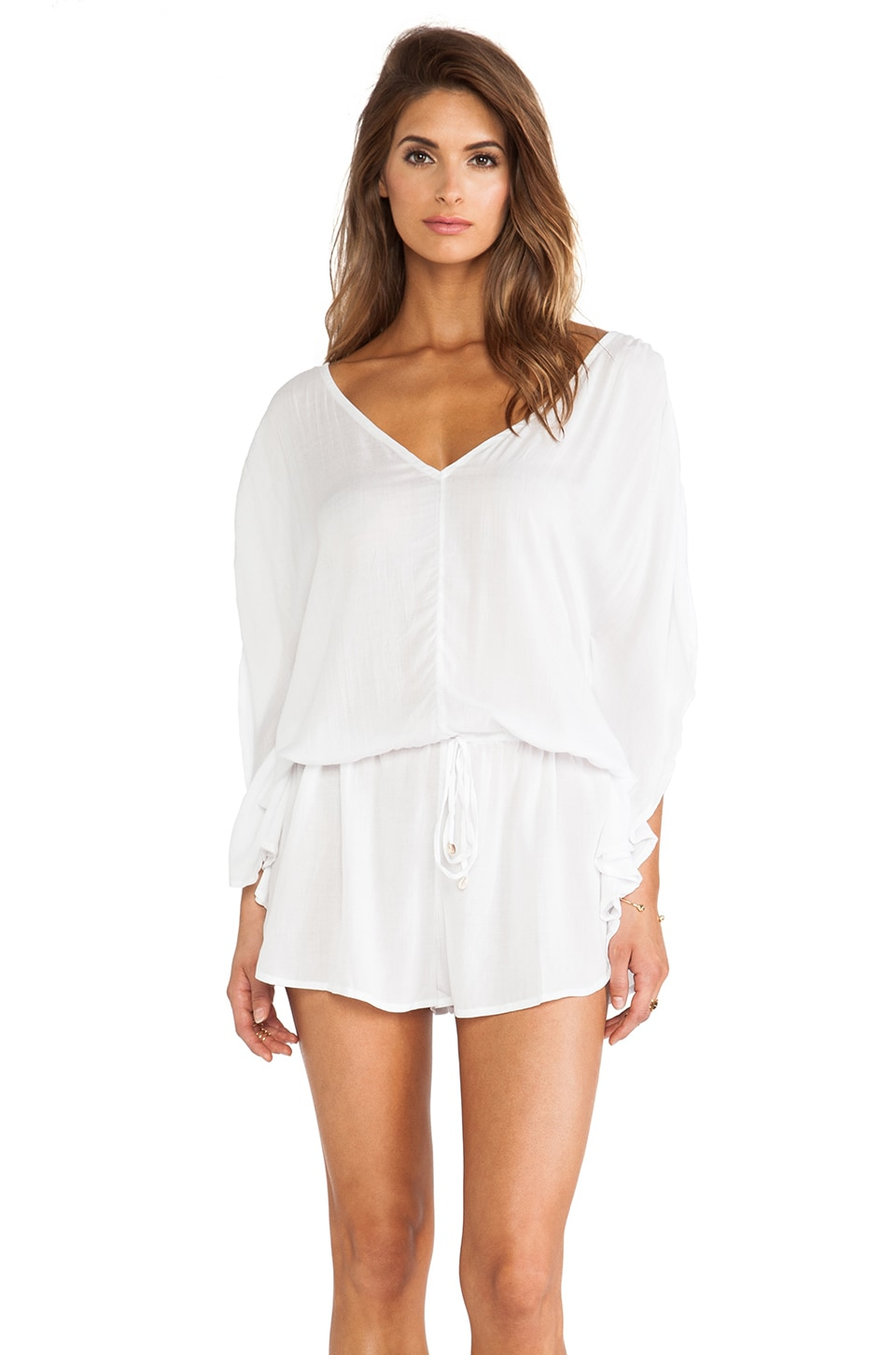 Indah Butterfly Romper in White