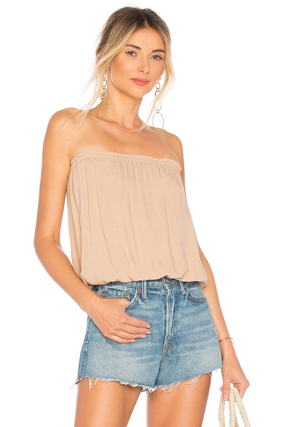 indah gemma tube top in nude | revolve