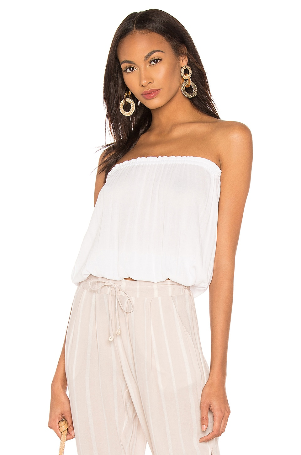 Indah Gemma Tube Top in White