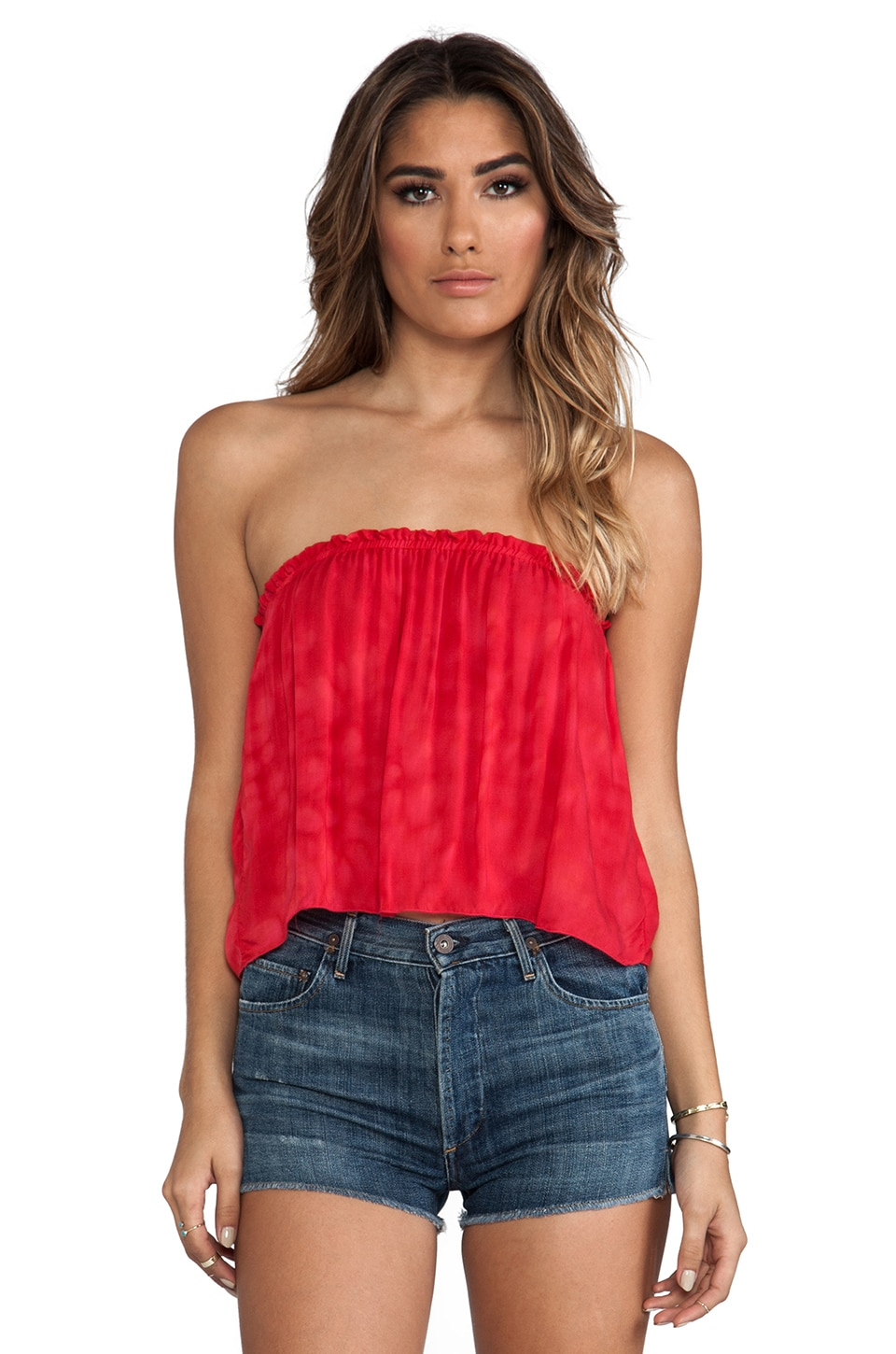 Indah Star Strapless Tube Top in Pink Salt