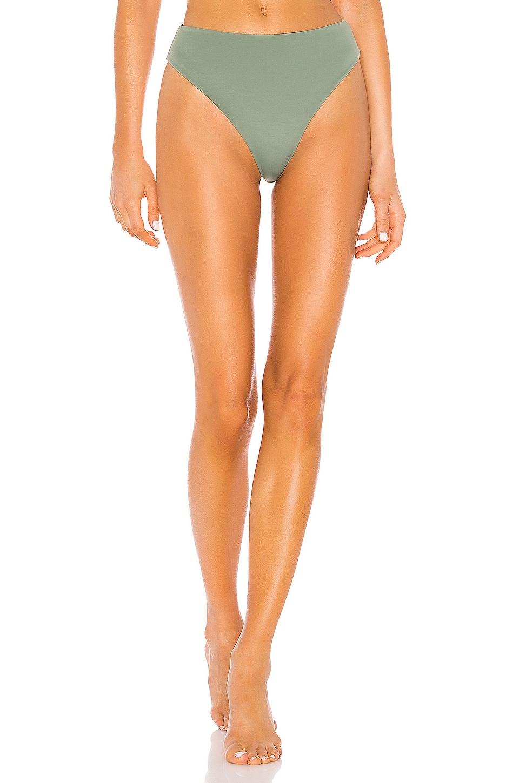 Indah Brinkley Skimpy Hi Leg Bottom in Mint Colorblock