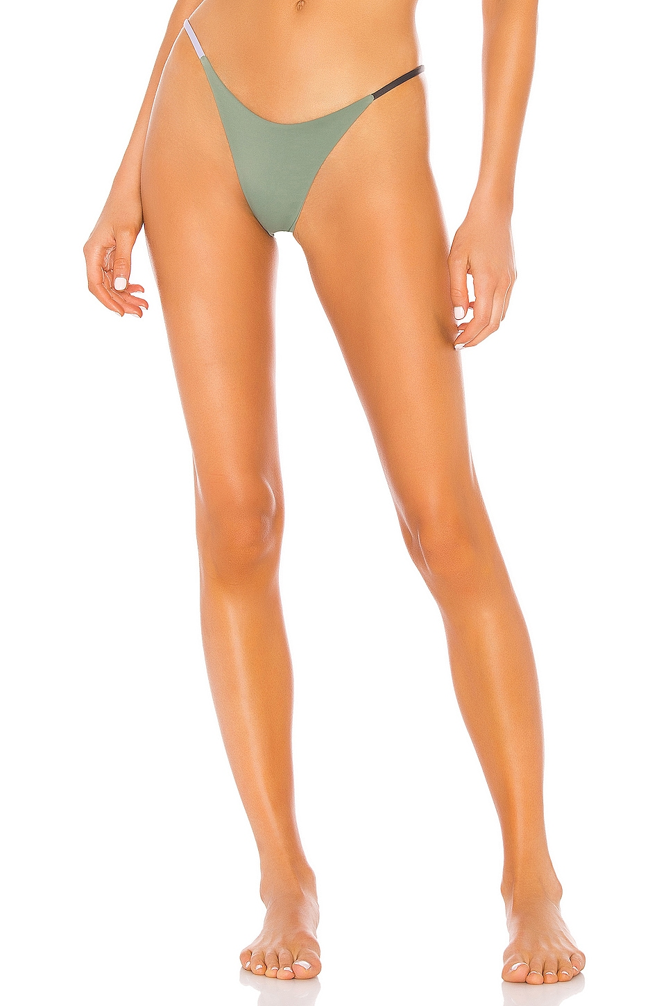 Indah Marlin Skimpy Colorblock Bottom in Mint Colorblock