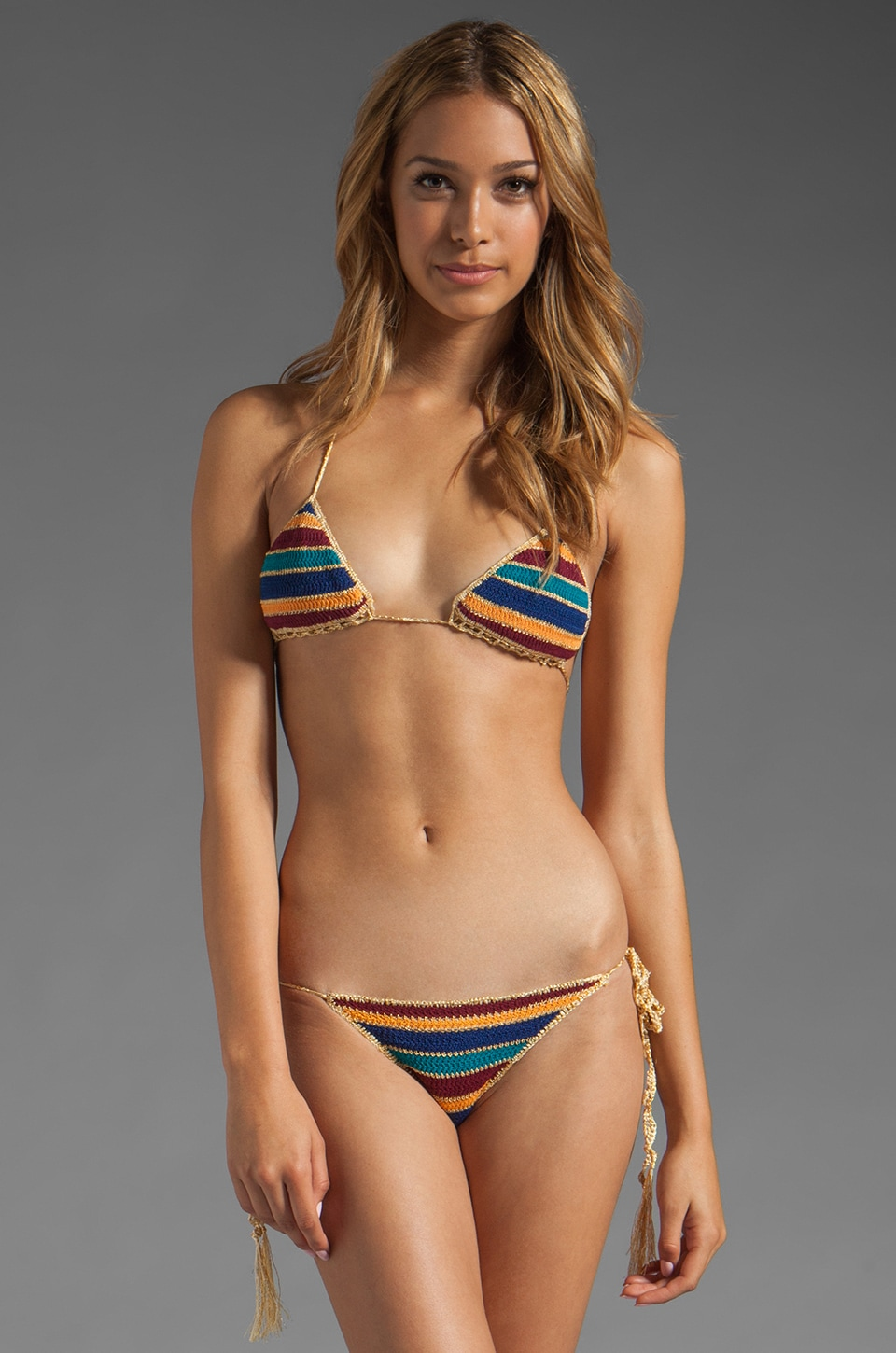 Indah Bells Knit Bikini Set in Stripe