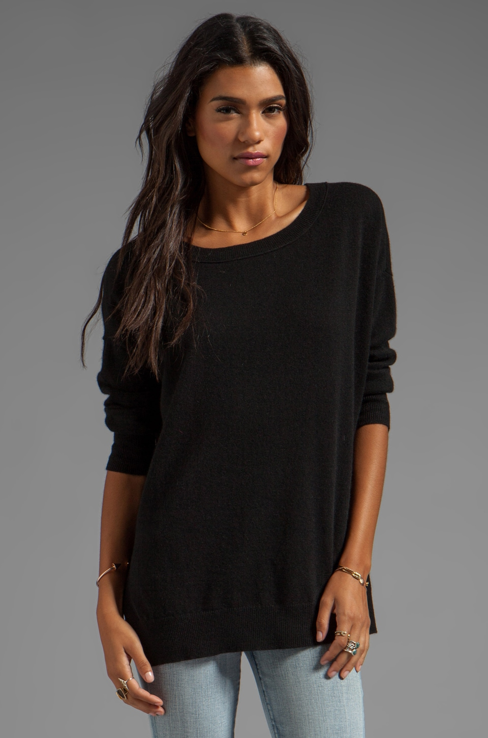 Inhabit Cashmere Weekend Sweater in Black