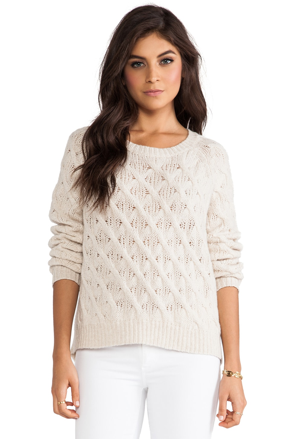Inhabit Cashmere Chainette Sweater in Camel