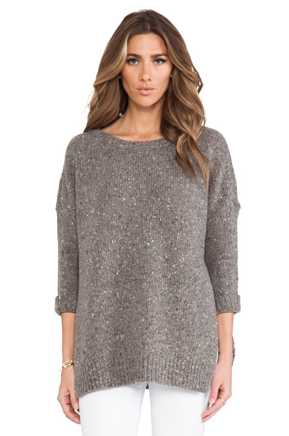 Inhabit Donegal Outdoor Sweater in Mid-Grey