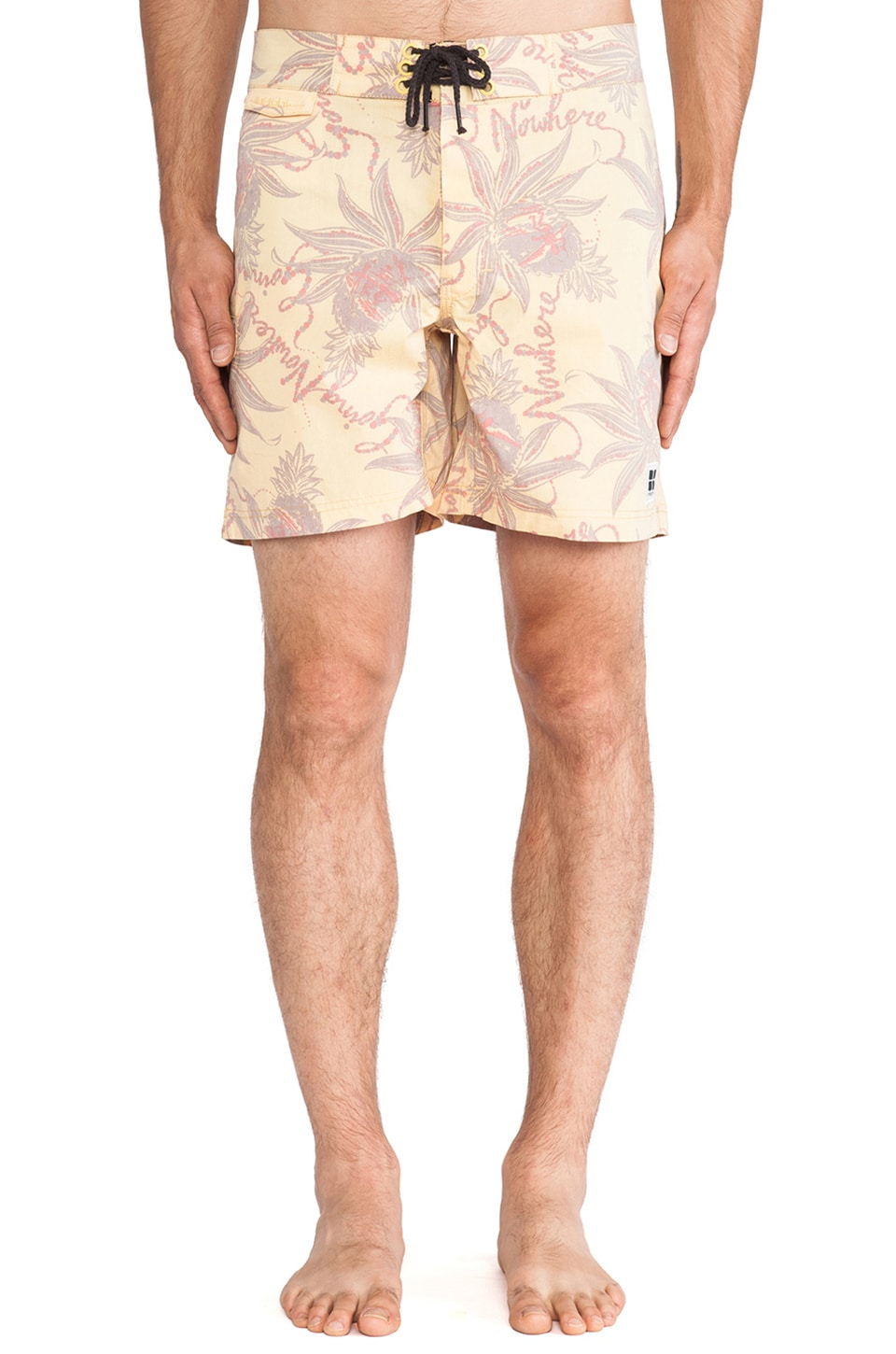 Insight Going Nowhere Boardshort in Going Nowhere Gold